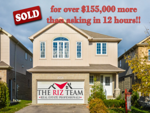 Sold for $155,000 more than asking